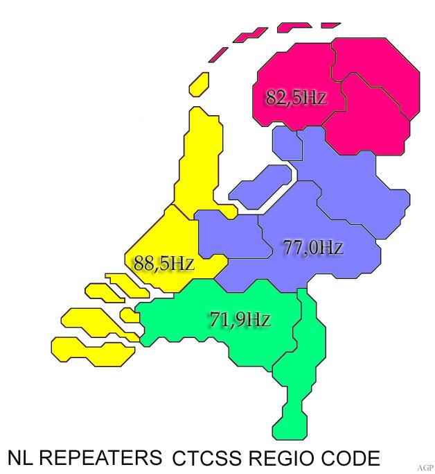 CTCSS regio code agp
